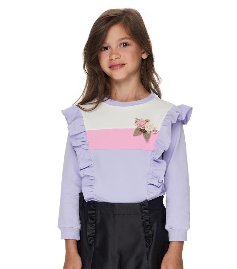 CHOUPETTE Volant Decorated Sweatshirt