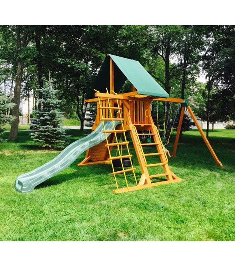 EASTERN JUNGLE GYM Premium Supremescape Swing Set With Slide & Tent