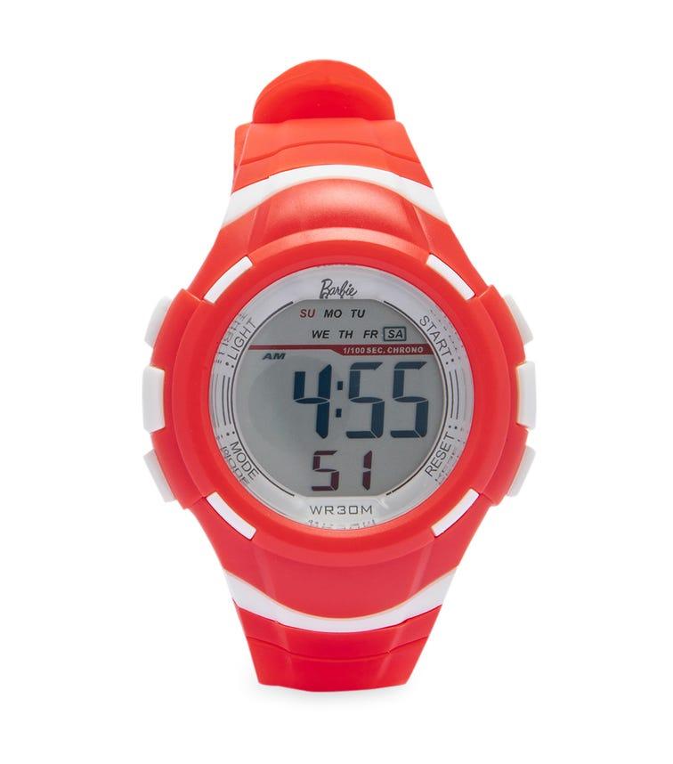 Barbie 1/100 Sec. Chrono Class Digital Watch - Cherry