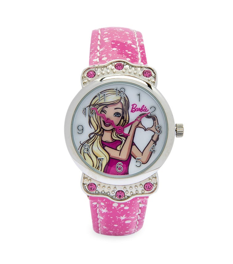 Barbie Cool Strapped Class Analog Watch - Gold Specks