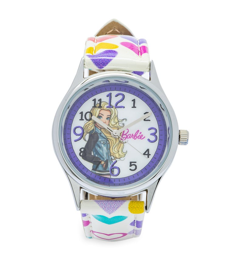 Barbie Cool Strapped Class Analog Watch - Hearts