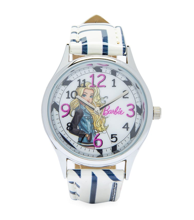 Barbie Cool Strapped Class Analog Watch - Stripes