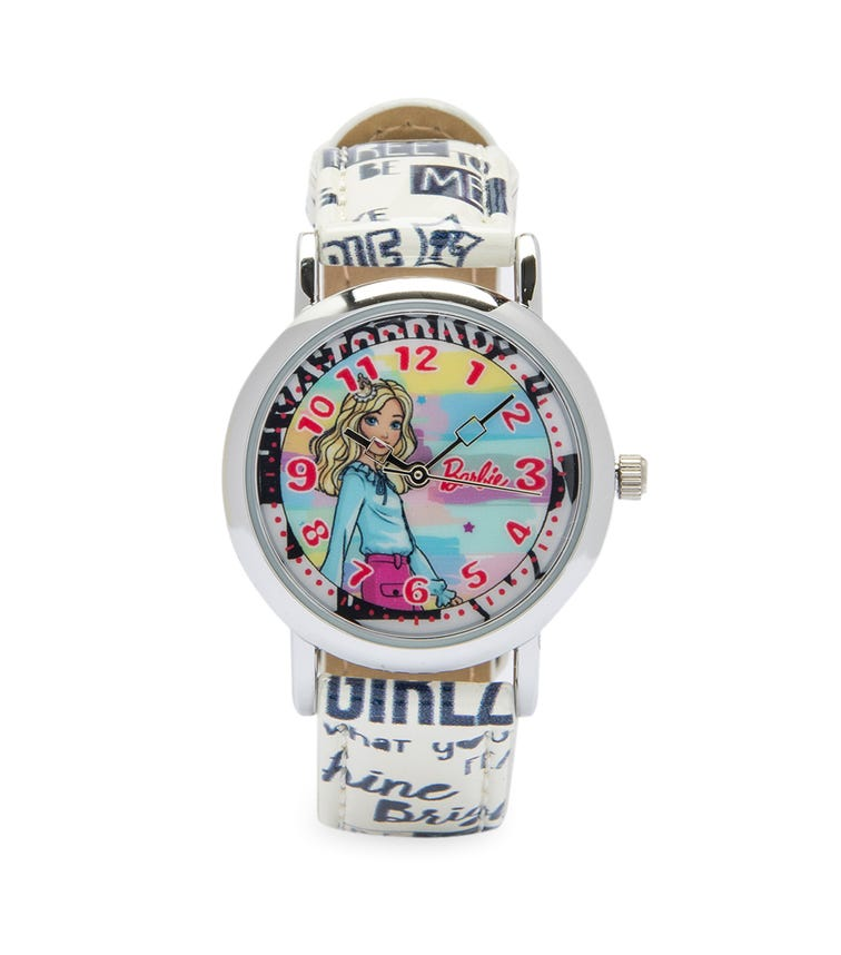 Barbie Cool Strapped Class Analog Watch - Slogans