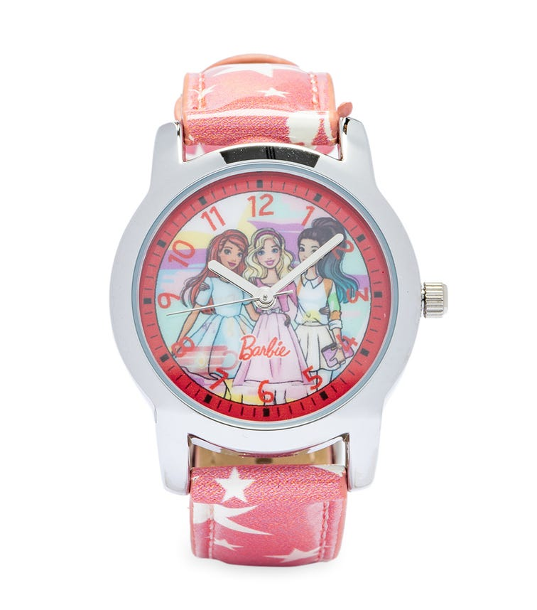 Barbie Cool Strapped Class Analog Watch - Starred
