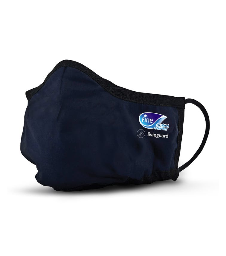 FINE GUARD Comfort Adult Face Mask With Livinguard Technology, Infection Prevention - Size Large
