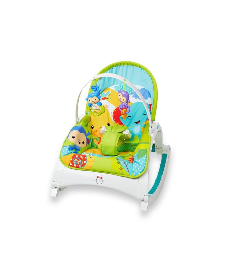 FISHER PRICE Rainforest Friends Newborn-to-Toddler Portable Rocker