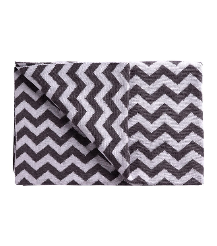 MOON Blanket Stretchy Reversible Cotton Swaddle - Grey
