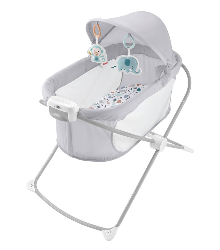 MATTEL Fisher Price Deluxe & Foldable Soothing View Projection Bassinet