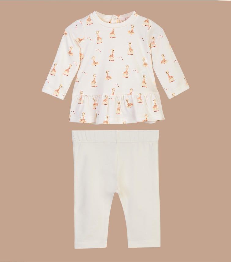 SOPHIE LA GIRAFE White Top and Pant Set