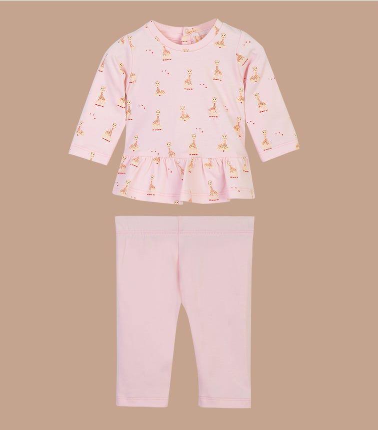 SOPHIE LA GIRAFE Pink Top and Pant Set