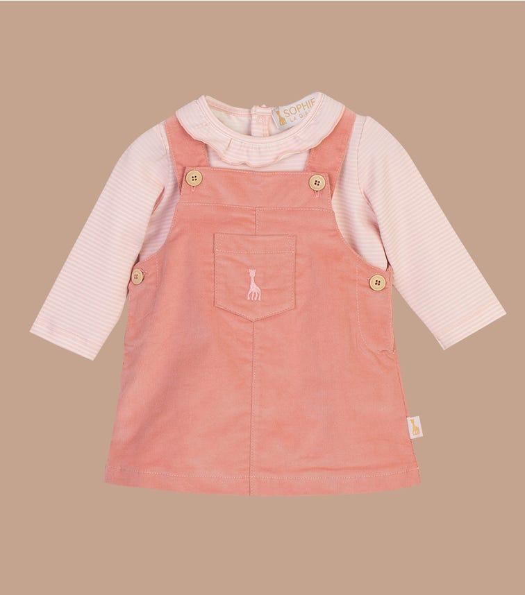 SOPHIE LA GIRAFE Quartz Pink Overall Dress Set