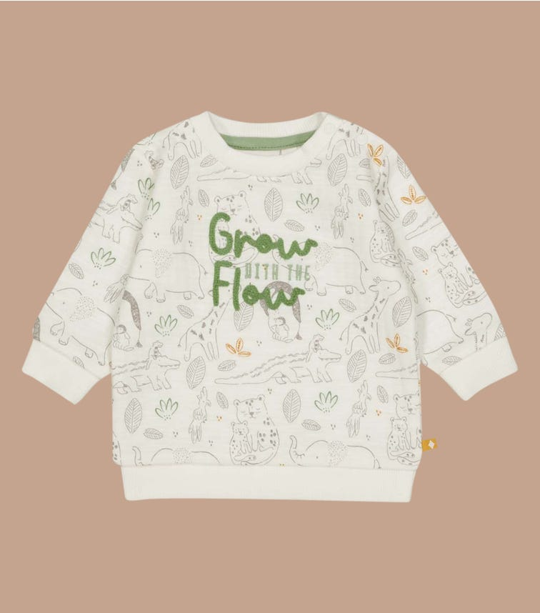 FEETJE AOP Sweater - Welcome To Earth