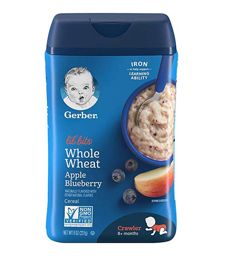 GERBER Lil' Bits, Cereal, Apple Blueberry 227 G