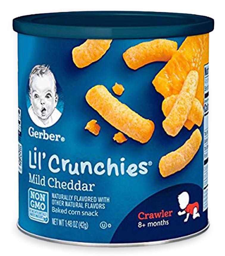 GERBER Lil' Crunchies, Crawler, Mild Cheddar 42 G