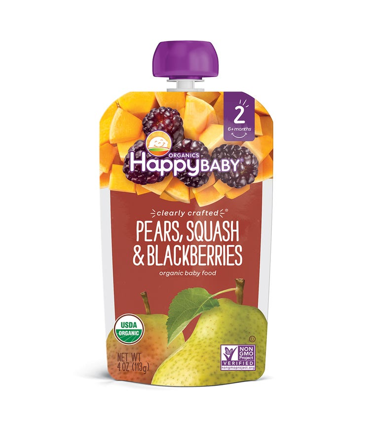 HAPPY FAMILY ORGANIC Clearly Crafted Stage 2 Baby Food 113G