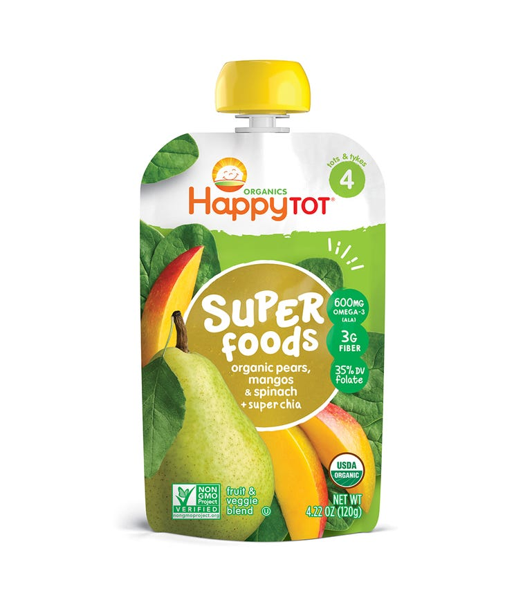 HAPPY FAMILY ORGANIC Stage 4 Super Foods 120G Pouch