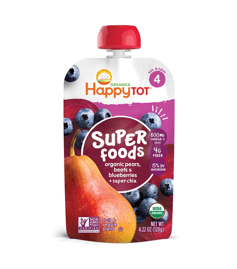 HAPPY FAMILY ORGANIC Super Foods Pouch Stage 4 120G Pouch