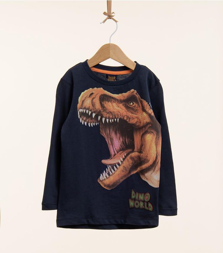 PUTTMANN Dinosaur Long Sleeve Graphic Tee