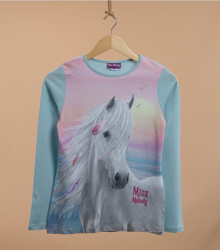 PUTTMANN Pony Long Sleeve Graphic Tee