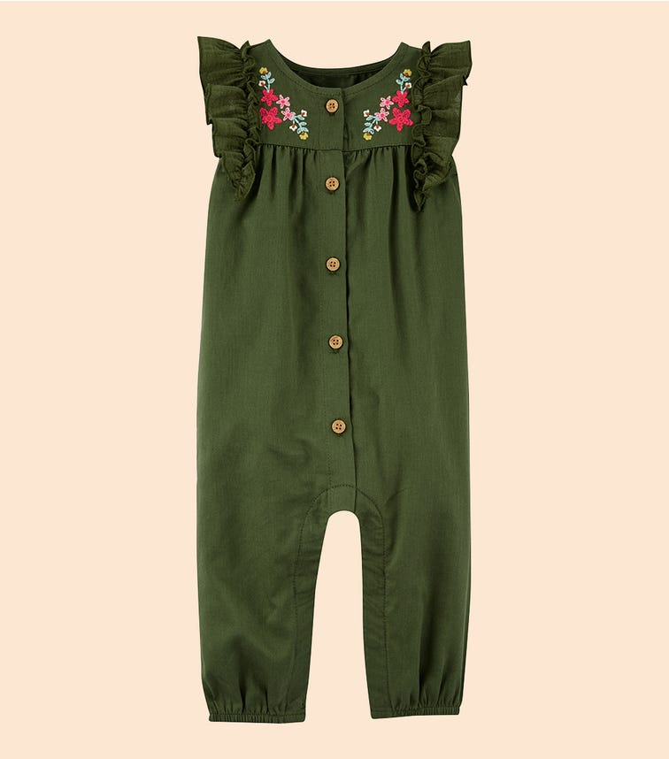 CARTER'S Floral Twill Jumpsuit