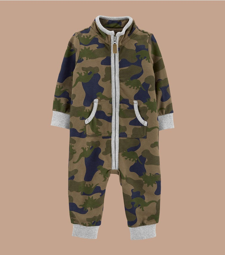 CARTER'S Camo French Terry Jumpsuit