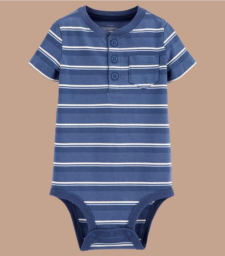 OSHKOSH Striped Henley Bodysuit