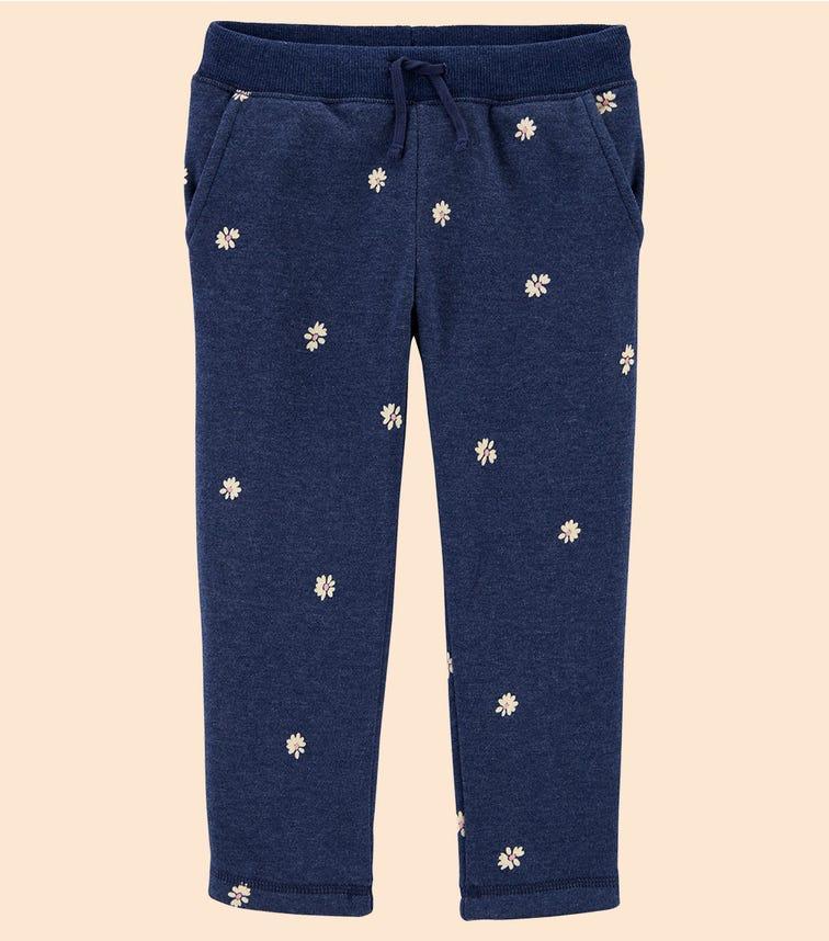 OSHKOSH Daisy Print Logo Fleece Pants