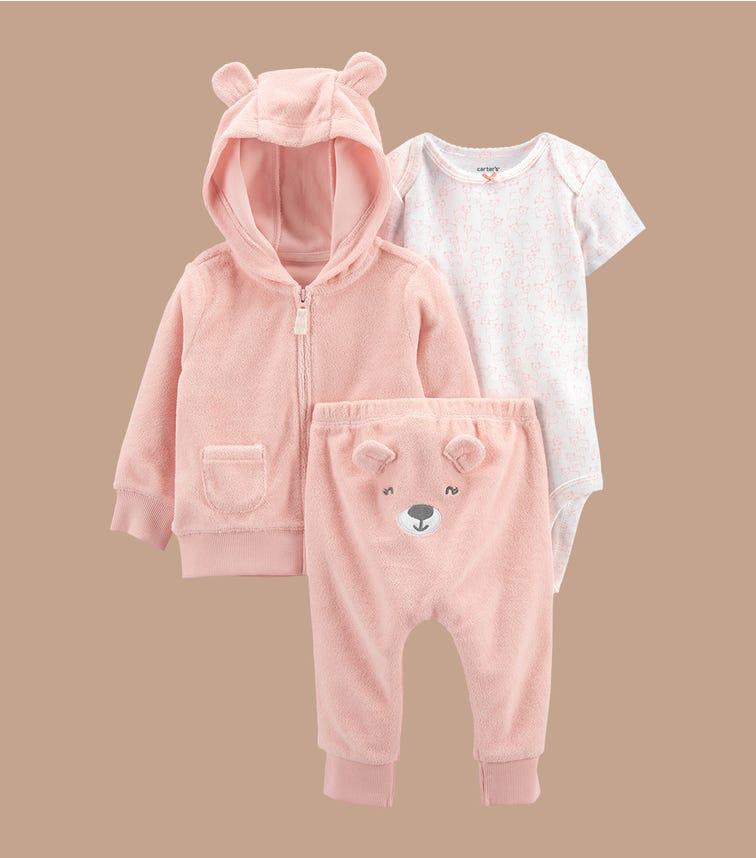 CARTER'S 3-Piece Bear Little Jacket Set