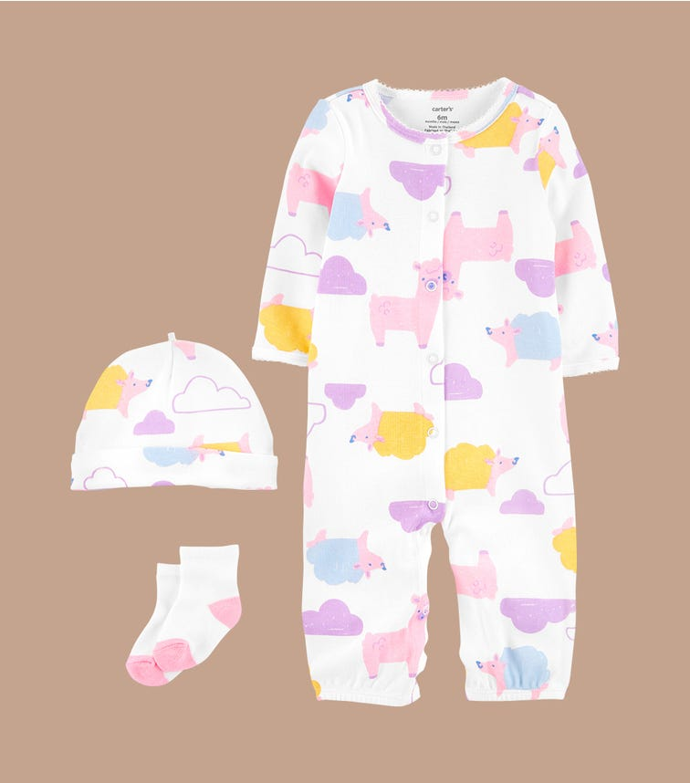 CARTER'S 3-Piece Take-Me-Home Converter Gown Set