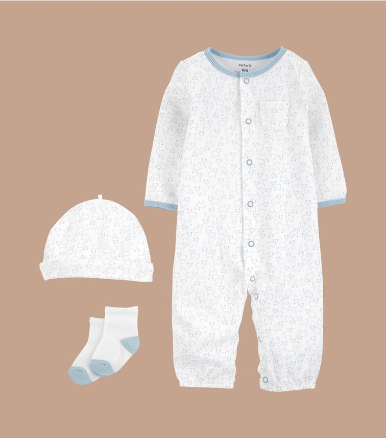 CARTER'S 3-Piece Take-Home Converter Gown Set