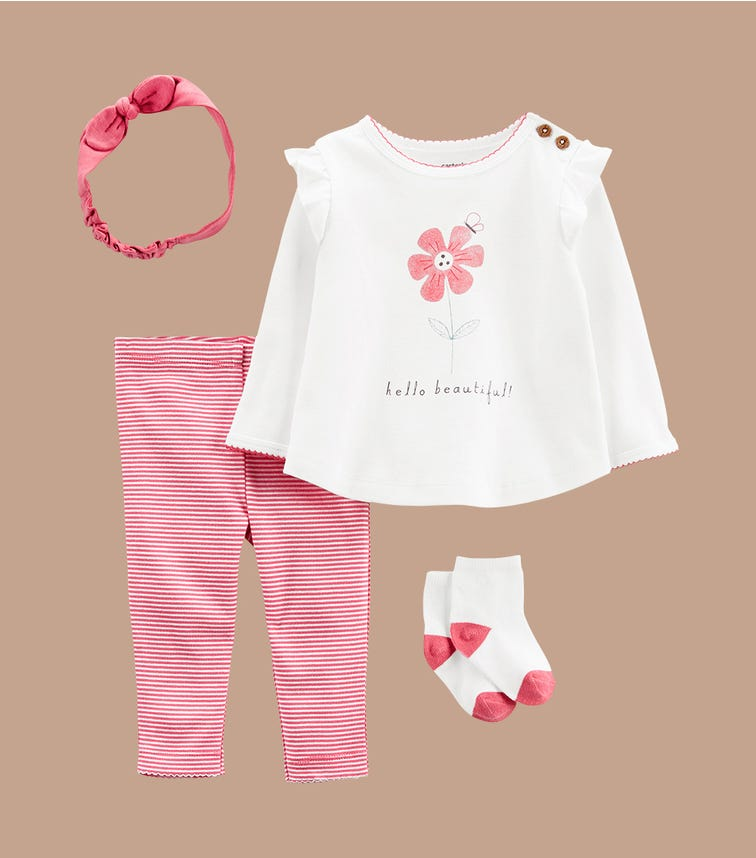 CARTER'S 4-Piece Hello Beautiful Outfit Set