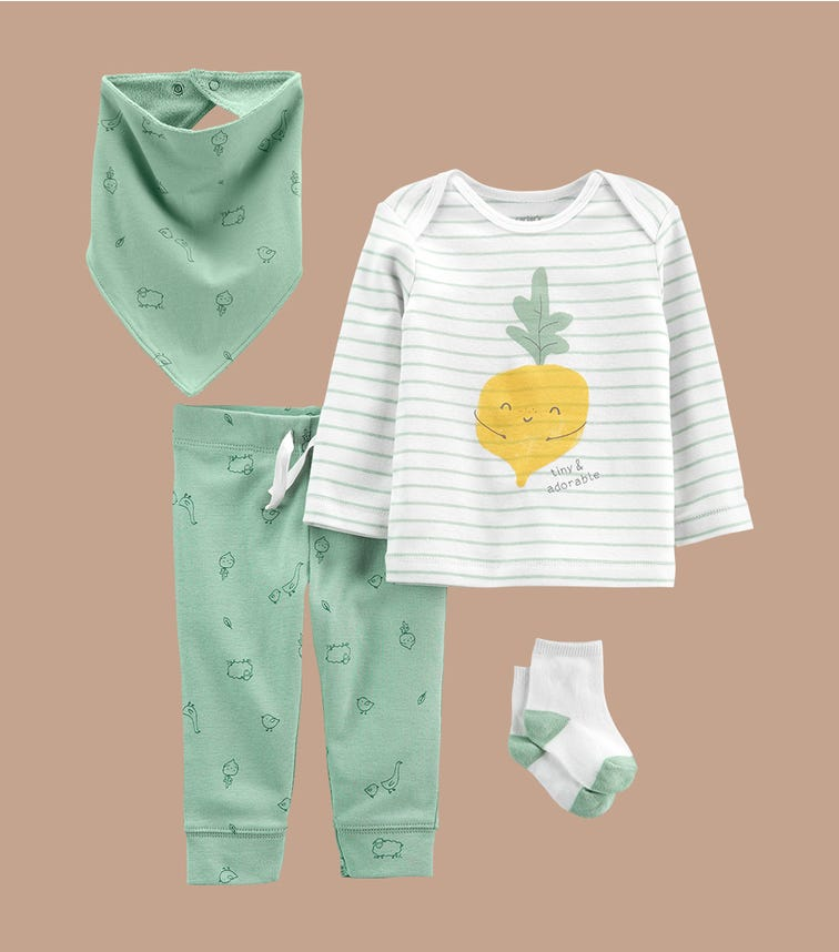 CARTER'S 4-Piece Veggie Outfit Set