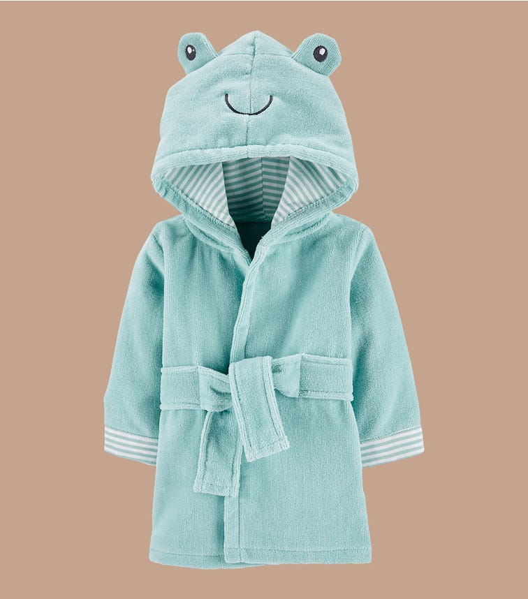 CARTER'S Frog Hooded Bath Robe