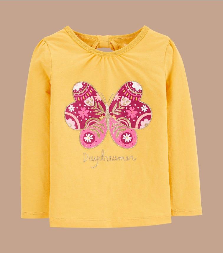 CARTER'S Butterfly Jersey Tee