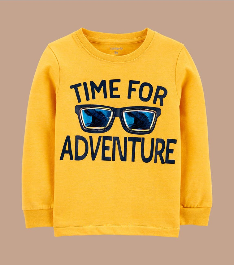 CARTER'S Time For Adventure Snow Yarn Tee