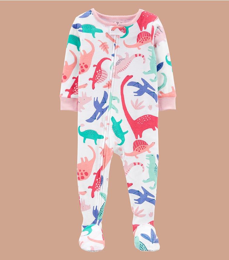 CARTER'S 1-Piece Dinosaur 100% Snug Fit Cotton Footie Pjs
