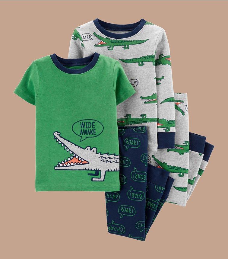 CARTER'S 4-Piece Alligator 100% Snug Fit Cotton Pjs