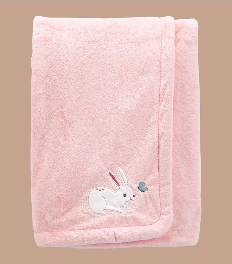 CARTER'S Bunny Fuzzy Plush Blanket