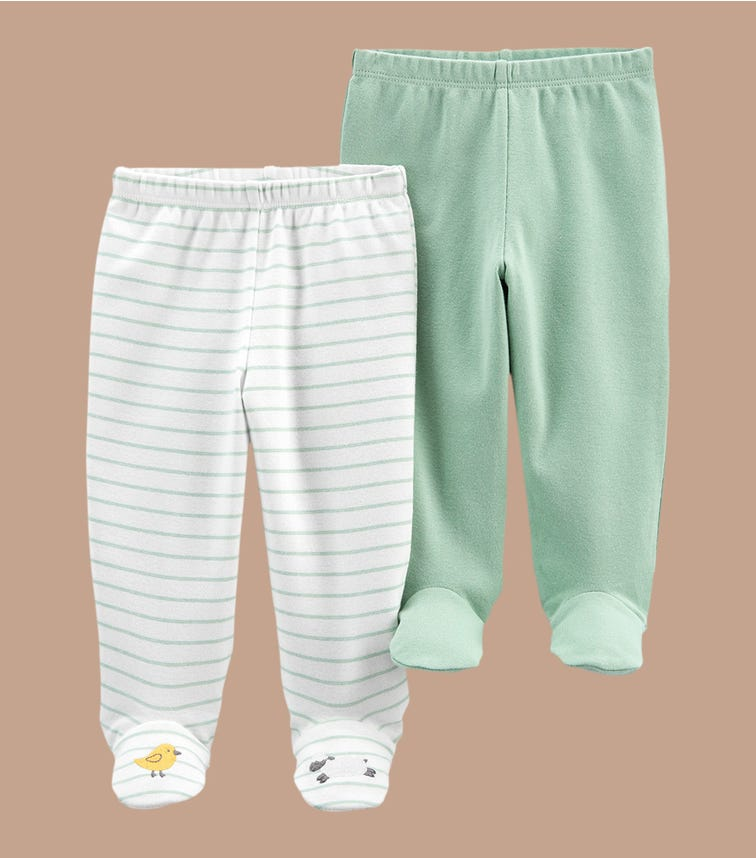 CARTER'S 2-Pack Cotton Footed Pants