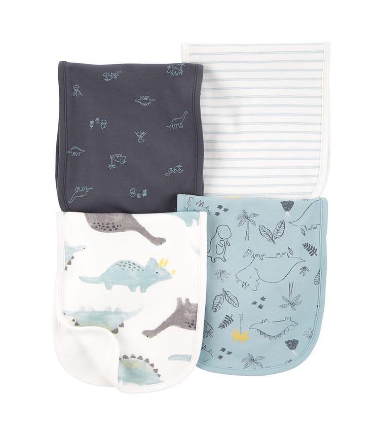 CARTER'S 4-Pack Dinosaur Burp Cloths