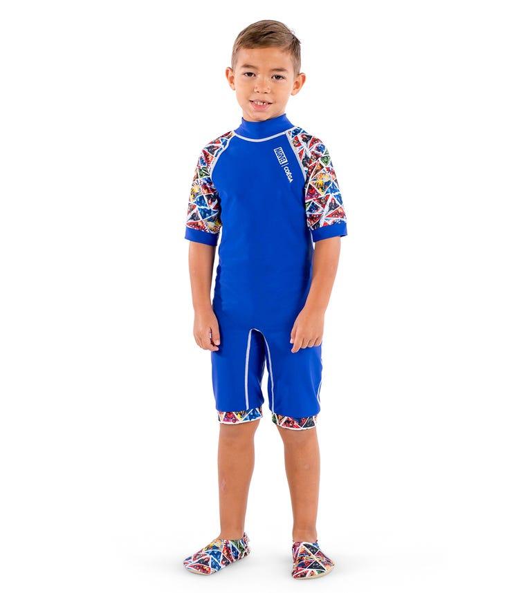 COEGA Marvel Boys Kids Swimsuit - Navy Super War