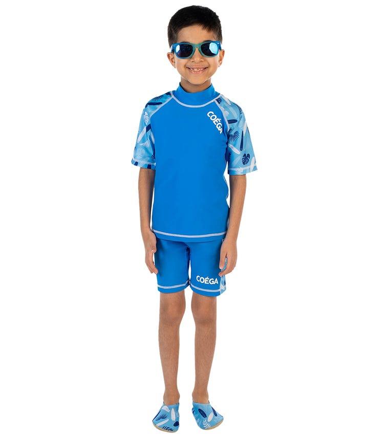COEGA Kids Boys 2-Piece Swimsuit - Blue Surfer