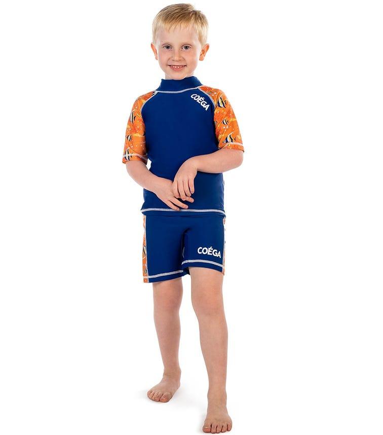COEGA Kids Boys 2-Piece Swimsuit - Orange Angel Fish