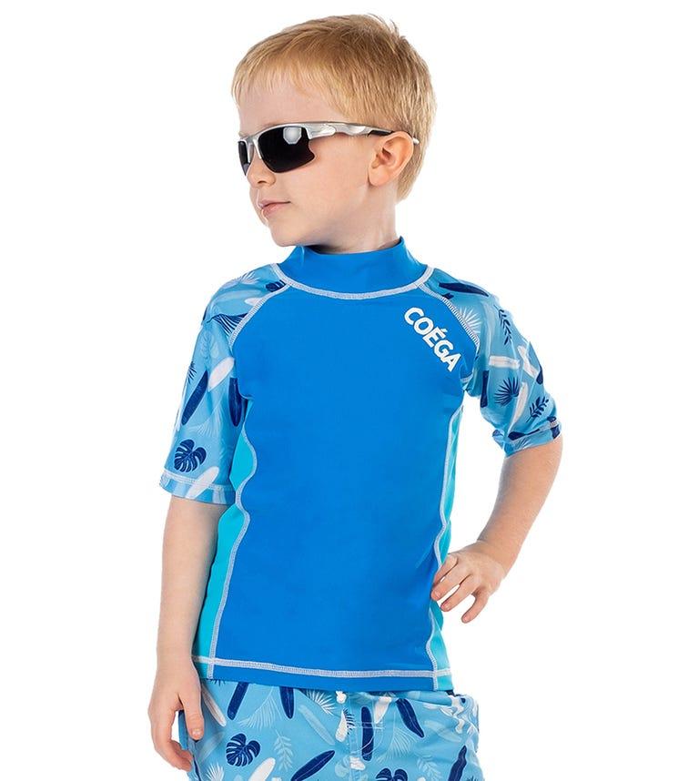 COEGA Kids Boys Rashguard - Blue Surfer