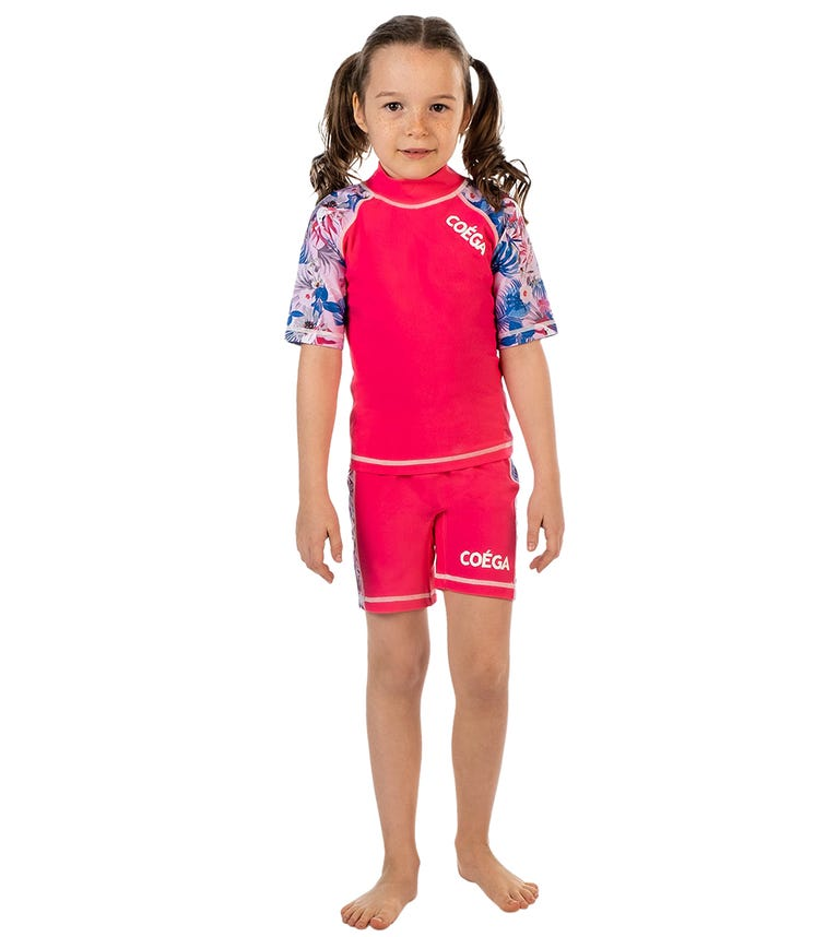 COEGA Kids Girls 2-Piece Swimsuit - Magenta Rainforest