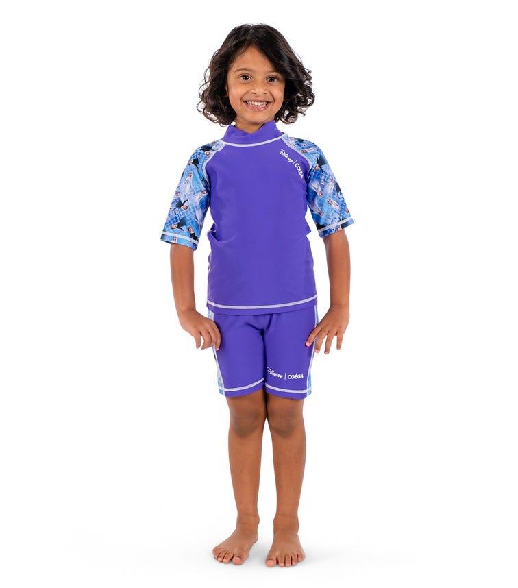 COEGA Disney Girls Kids Swimsuit - Purple Frozen Sisters