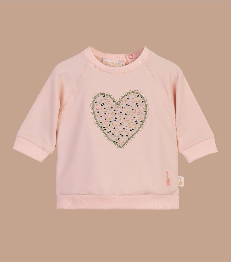 SOPHIE LA GIRAFE Chintz Rose Heart Applique Top