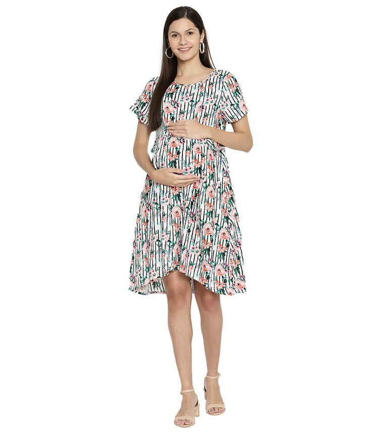 THE VANCA Printed Maternity Dress
