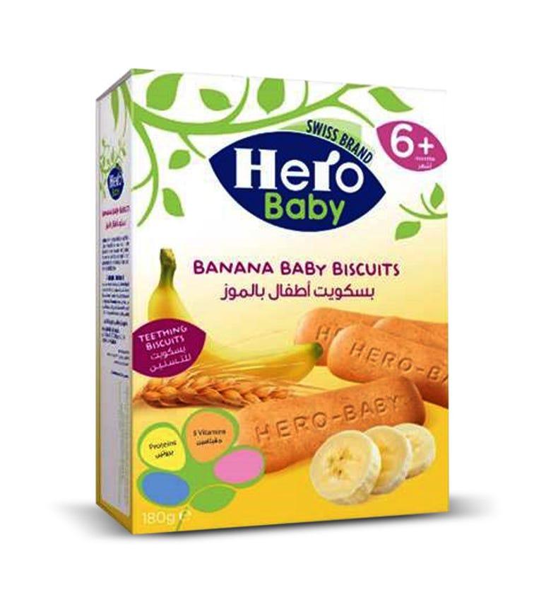 HERO  Baby Banana Biscuits, 180 G