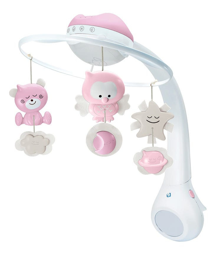 INFANTINO 3 In 1 Projector Musical Mobile Pink
